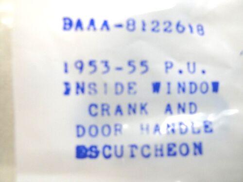1953 1954 1955 53 54 55 FORD TRUCK  WINDOW CRANKER  CRANK ESCUTCHEON NEW