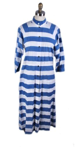 Vintage Vuokko Cotton Dress Blue & White Stripes W