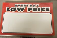 Edlp Gondola Slat Grid Wall Retail Shelf Signs Price Cards 100 11x7