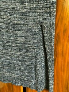 H-amp-M-Knitted-Skirt-with-Side-Slit-XS