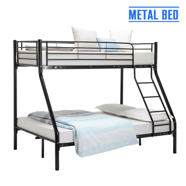 3FT Single 4FT6 Double Triple Sleeper Bunk Bed Frame for Adult Children Kids 799fa37e4