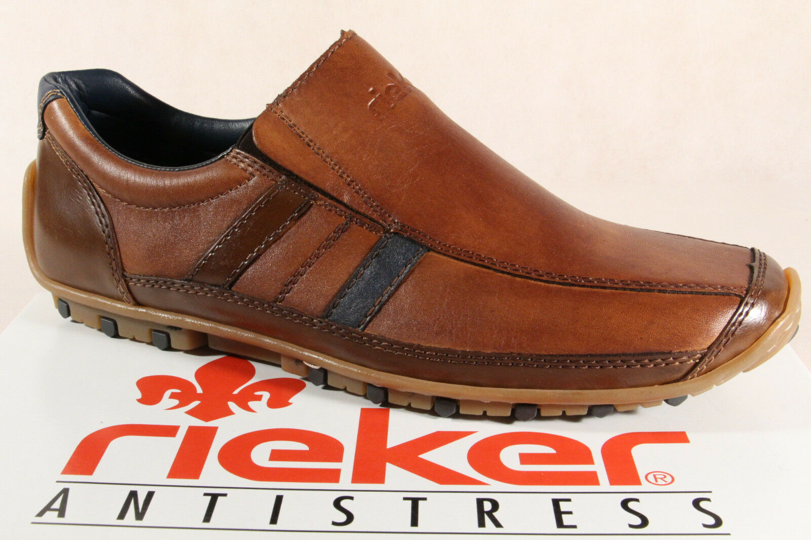 Rieker Men's Slippers Sneakers Low shoes 08972 Brown New