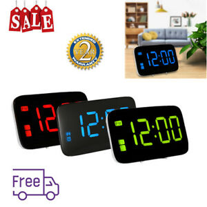 DEL-reveil-numerique-controle-vocal-Time-Display-USB-Snooze-Bureau-Horloge