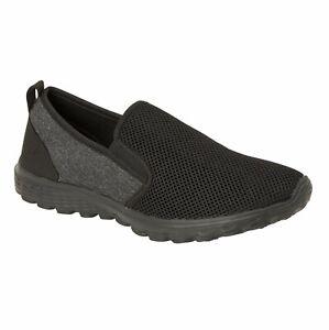 mens black memory foam slip on casual shoesurban jacks