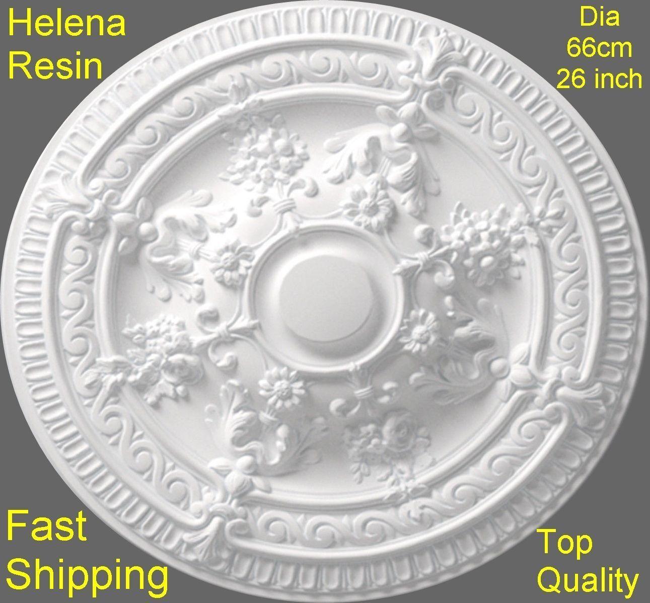 Ceiling rosa Helena resina forte luce design non POLISTIRENE Easy Fix 66 cm DECO