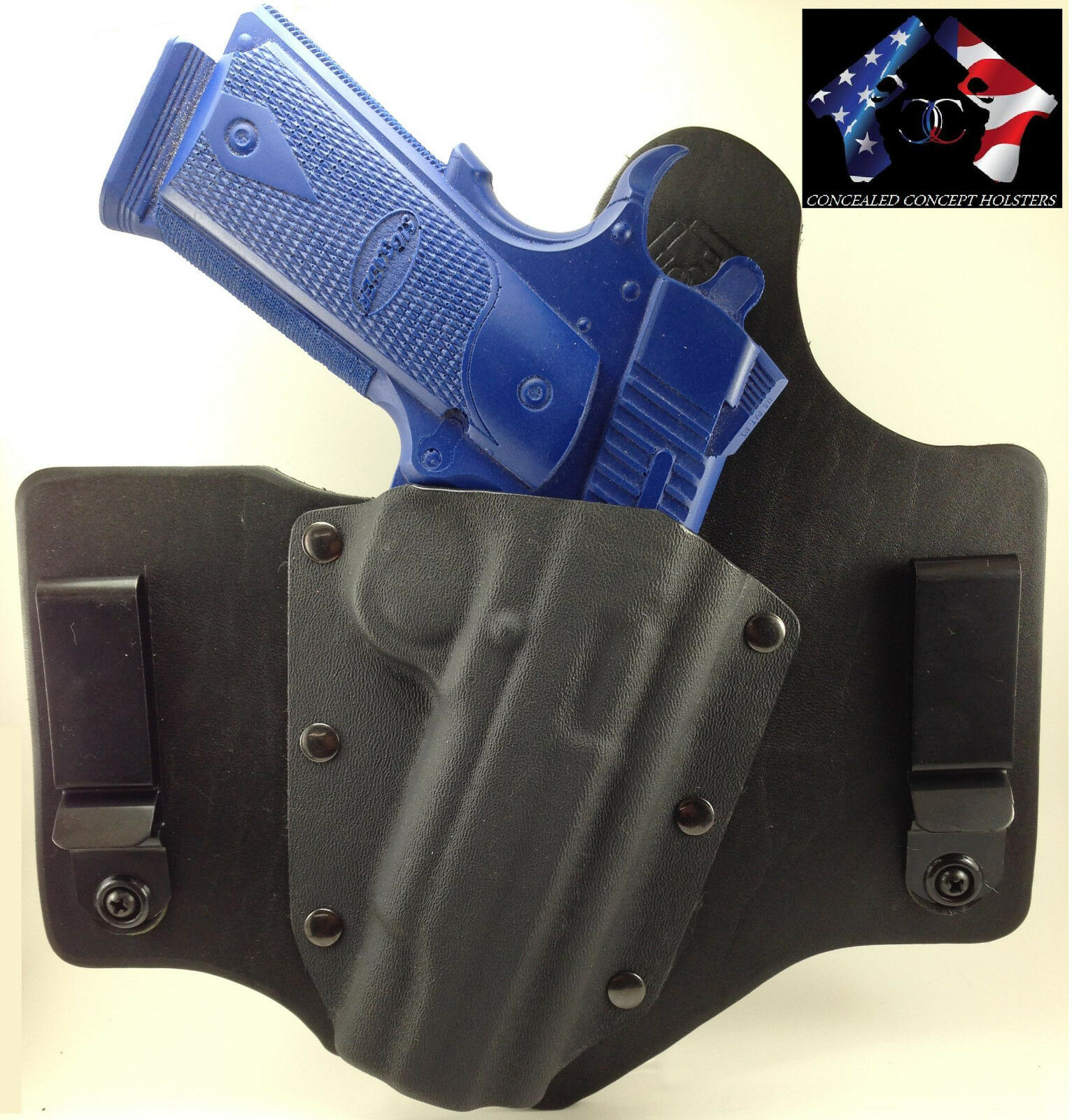 IWB KYDEX HOLSTER INSIDE WAISTBAND LEATHER KYDEX HYBRID CONCEALED CONCEPT