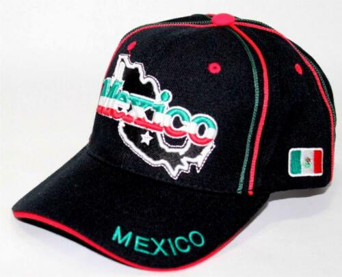 Many Colors Mexico World Soccer 3D  One Size Fit Hat Cap