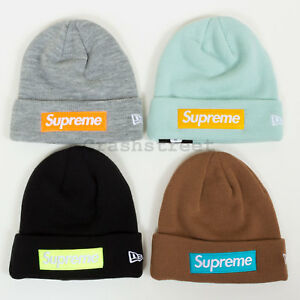 Supreme FW17 New Era Box Logo Beanie cap camp logo shirt box ... 6d6f4c09483