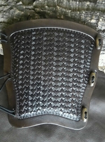 Arrow Basket weave type 3 leather archery arm guard,bracer,armguard,larp,pagan