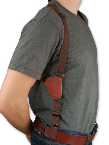 "NEW Barsony Burgundy Leather Vertical Gun Shoulder Holster for Colt 6/"" Revolvers"