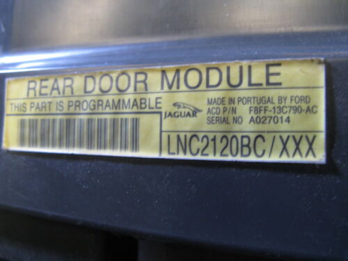 1998 1999 2000 01 02 2003 JAGUAR XJ8 XJ8L VANDEN PLAS REAR DOOR MODULE LNC2120BC