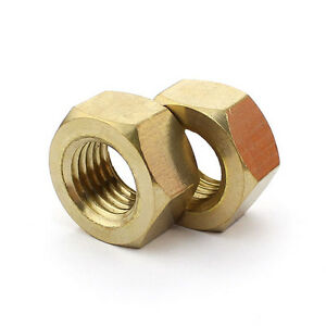 Brass Hex Full Nuts Metric Various Sizes M3-M12