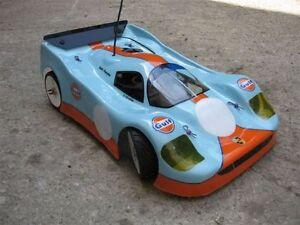 1/8 Porsche 962 RC Car Body Shell 1.5mm Ofna Hyper GT Traxxas Slash Rally 0126