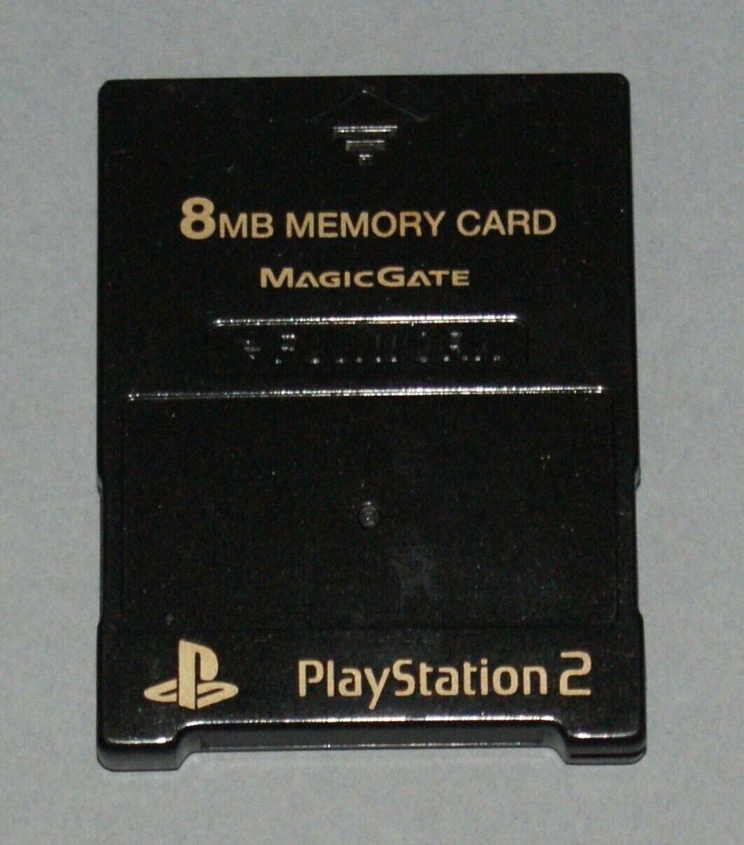 Metallic Black Fujiwork 8MB PS2 Memory Card - Sony PlayStation 2 Tested Fuji