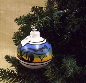 Native American Christmas Ornaments.Details About Cedar Mesa Native American Made Pottery Indian Rainbow Christmas Ornament Blue