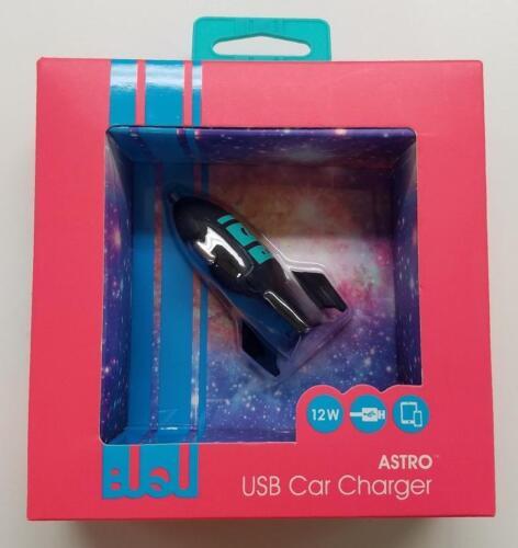 Universal USB Car Charger 2.4 AMP Rocket Ship Cool BUQU Astro