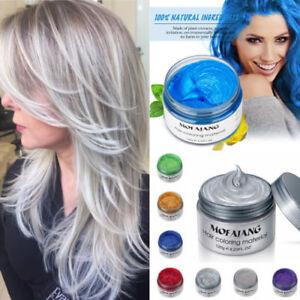 7Color Hair Color Pomades MOFAJANG Wax Mud Dye Styling Cream ...