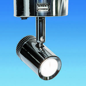 Switched 12v LED Spotlight with 2 USB Ports