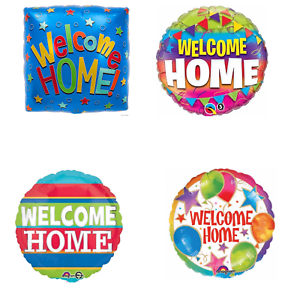 """18/"""" FOIL BALLOON /""""WELCOME HOME SWIRLS/"""" WELCOME BACK HOLIDAY"""