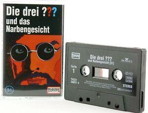 Die-drei-31-Fragezeichen-und-das-Narbengesicht-Hoerspiel-MC-schwarz-Kassette