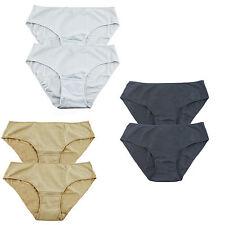 bbb25da2e28d 6 Pack Womens Cotton Bikini High Briefs Panties Assorted 3 Plain Color  Underwear