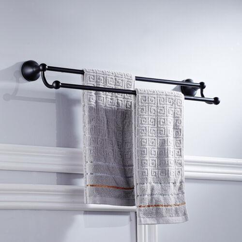 Black Square Wandhalterung Messing Doppel Handtuch Rack Handtuch Bar Bad