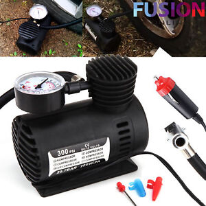 Air-Compressor-Pump-Car-Bike-Van-Tyre-Inflator-Bicycle-Compact-12V-300Psi-New