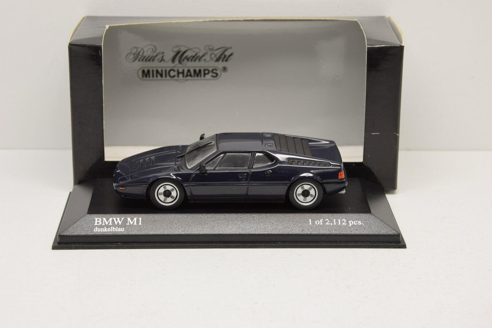 BMW M1 1978-1981 bleu MINICHAMPS 1 43 NEUVE EN BOITE