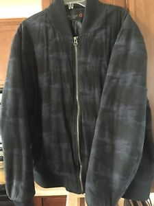 G-By-Guess-Mens-Camo-Navy-Bomber-Jacket-XXL
