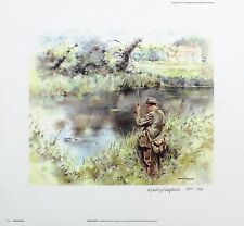 "MANDY SHEPHERD ""Gone Fishin'"" ANGLING signed LTD ED! SIZE:27cm x 29cm NEW RARE"