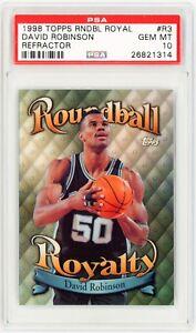 DAVID-ROBINSON-1998-Topps-Roundball-Royalty-REFRACTOR-R3-Basketball-Card-PSA-10