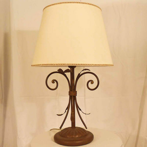 LAMPADA DA TAVOLO LUME CLASSICO ART.42 ART.42 ART.42 FERRO BATTUTO MADE IN ITALY TABLE LAMP   Belle Et Charmante  1bb05b