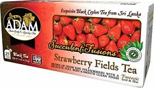 Adam Tea - Strawberry Black Ceylon Tea 25 Tea Bags with real fruit try ICED tea