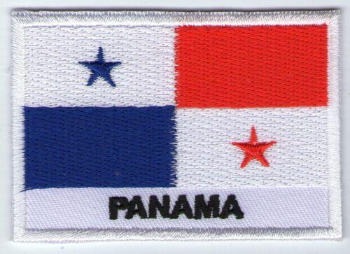 écusson ECUSSON BRODE PATCHE PATCH THERMOCOLLANT DRAPEAU LE PANAMA DIM 7 X 5 CMS