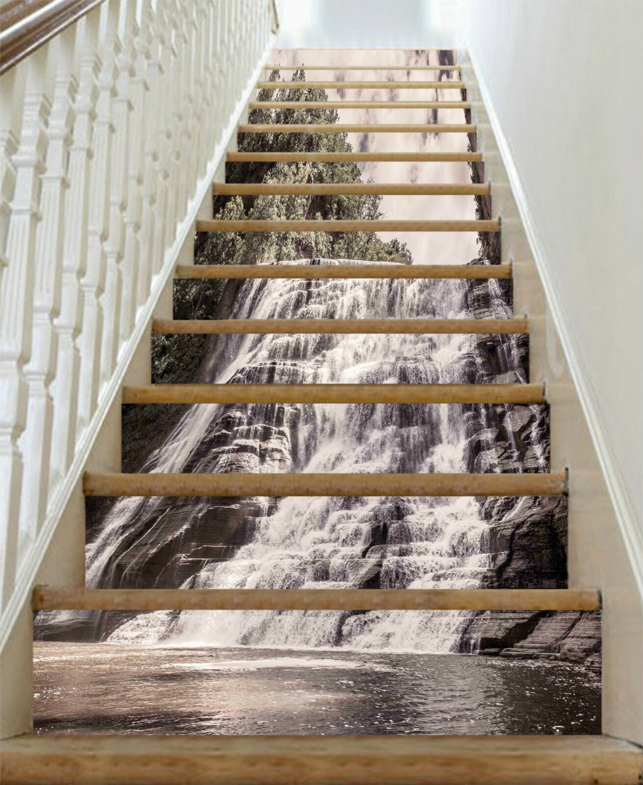 3D Strom Wald 1143 Stair Risers Dekoration Fototapete Vinyl Aufkleber Tapete DE