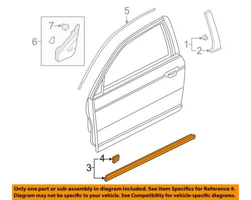 HONDA OEM Civic Door-Window Sweep Belt Molding Weatherstrip Right 72410S5SE01