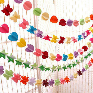 Hanging-Paper-3D-Heart-Garland-Birthday-Party-Wedding-Ceiling-Banner-Decor-SR