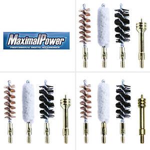 MaximalPower Combo Gun Cleaning Bore Brushes - 12 Gauge/.357/.45cal for Guns