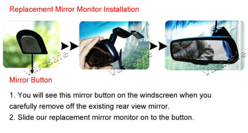 VardsafeOEM Backup Camera /& Replacement Mirror Monitor for Dodge Ram 1500