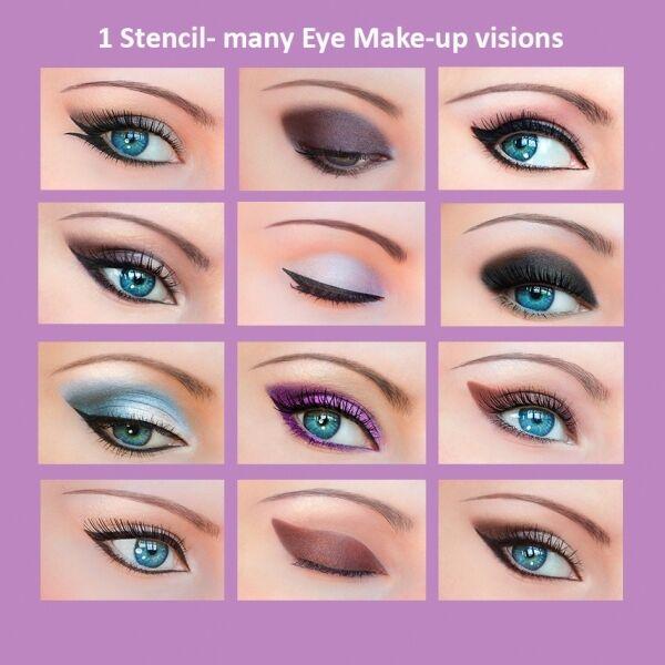 3+12 Stickies Eyeliner Schablonen Augen Lidschatten Augenbrauen ORIGINAL DE1