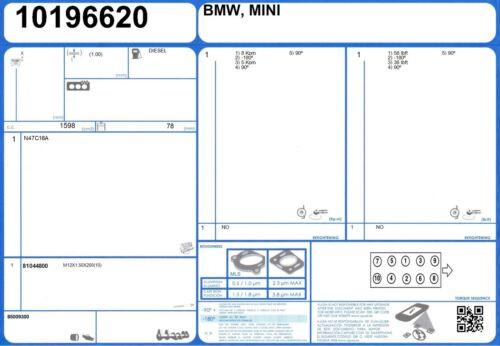 5//2007 - Bullone a testa del cilindro Set BMW 118d 16V 2.0 143 N47D20A