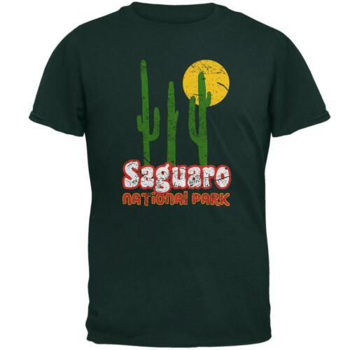 National Park Retro 70s Landscape Saguaro Mens T Shirt