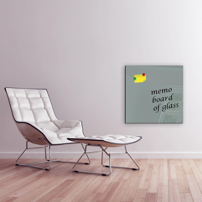 DEKOGLAS Magnettafel  gris  60x60 Glas Magnet Wand Pinnwand blancboard Memoboard