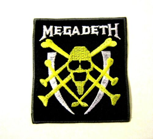 MEGADETH ROCK MUSIC BAND Embroidered Iron On// Sew On patch