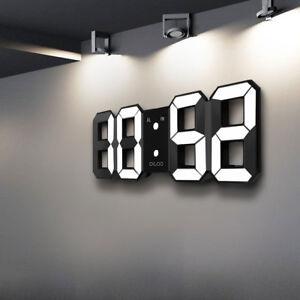 Moderne Uhr digoo moderne wanduhr led 3d digital wanduhr wall clock uhr schwarz