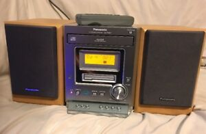 Image Is Loading PANASONIC CASSETTE AM FM STEREO SYSTEM BOOKSHELF SA