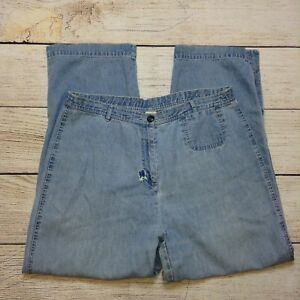J-Jill-Jeans-Size-16-Womens-Light-Wash-Embroidered-Well-Worn-Patched-Hippie-Mom