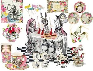 Truly Alice In Wonderland Mad Hatter Tea Party Vintage Cups Plates