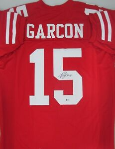 ae3d4f0c9 San Fran 49ers Receiver PIERRE GARCON Signed Custom Red Jersey - BCA ...