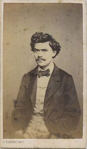 J.Flament Fotografia Primitivo A Bruxelles Belgium CDV Vintage Albumina C 1860